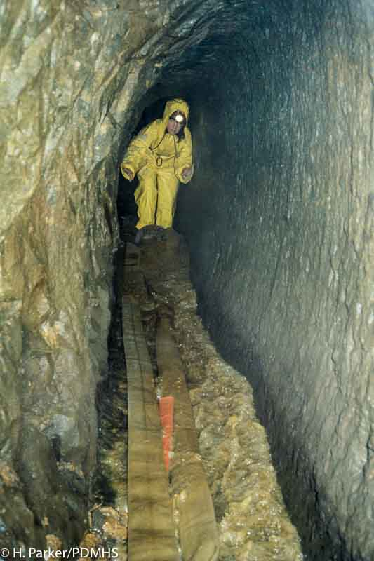 The tailings slurry was pumped into Winster Sough to carry them away from the site. Wills Founder Shaft, Winster.
