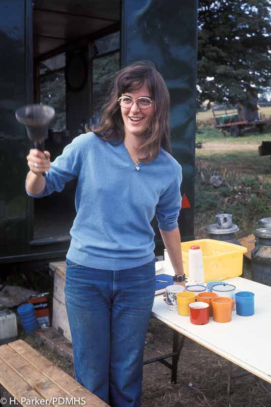 Sue Riley the Tea Lady - a vital operator. Wills Founder Shaft, Winster.
