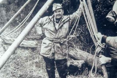 Harry Parker as banksman at Wills Founder Shaft, Winster.