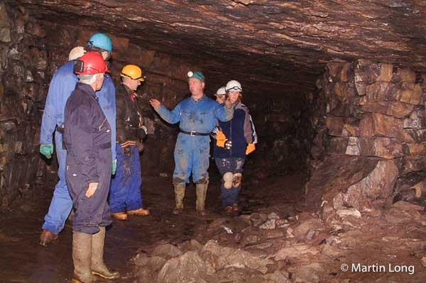 Underground mine trip in the Peak District © Martin Long