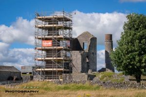 Magpie lead mine chimney repairs © Chris James