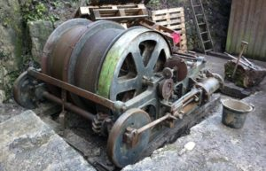 The winding engine from Long Rake Mine in the Peak District