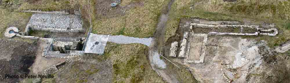 Excavations at High Rake Mine from the air. Photo © Peter Neville.