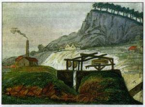 Cromford Moor Mine painted by John Mawe