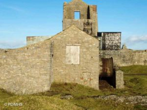 The Long Engine House at Magpie Lead Mine in the Peak District