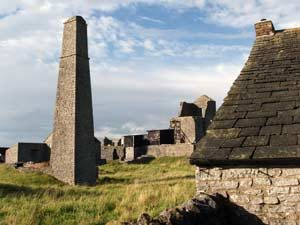 The Square Chimney at Magpie Lead Mine in the Peak District