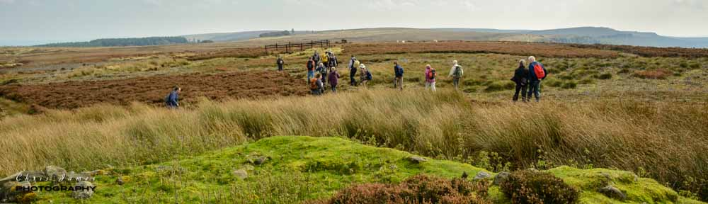 An industrial heritage walk at Stanage Colliery. Photo © Chris James