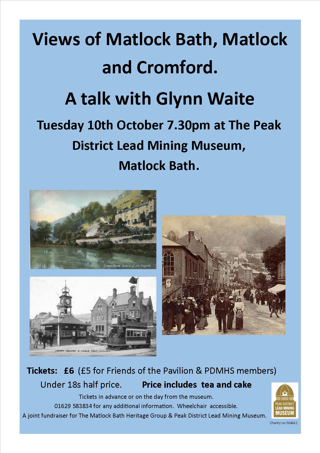 Derbyshire Heritage Talk at the Peak District Mining Museum, Matlock Bath