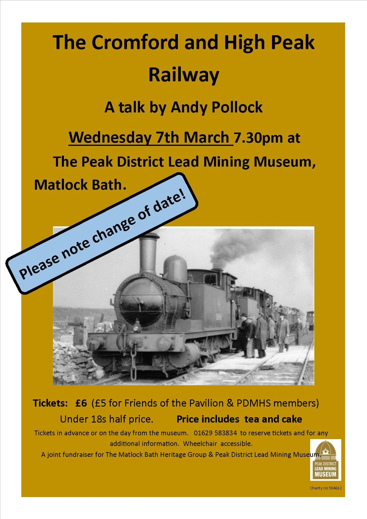 Derbyshire heritage event - Cromford and High Peak Railway talk at the Peak District Mining Museum