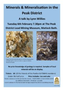 Derbyshire Heritage event - Peak District Minerals and Mineralisation talk at the Mining Museum, Matlock Bath