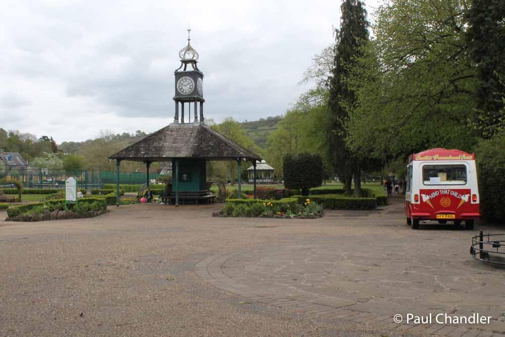 Tram shelter, Hall Leys Park, Matlock, Derbyshire