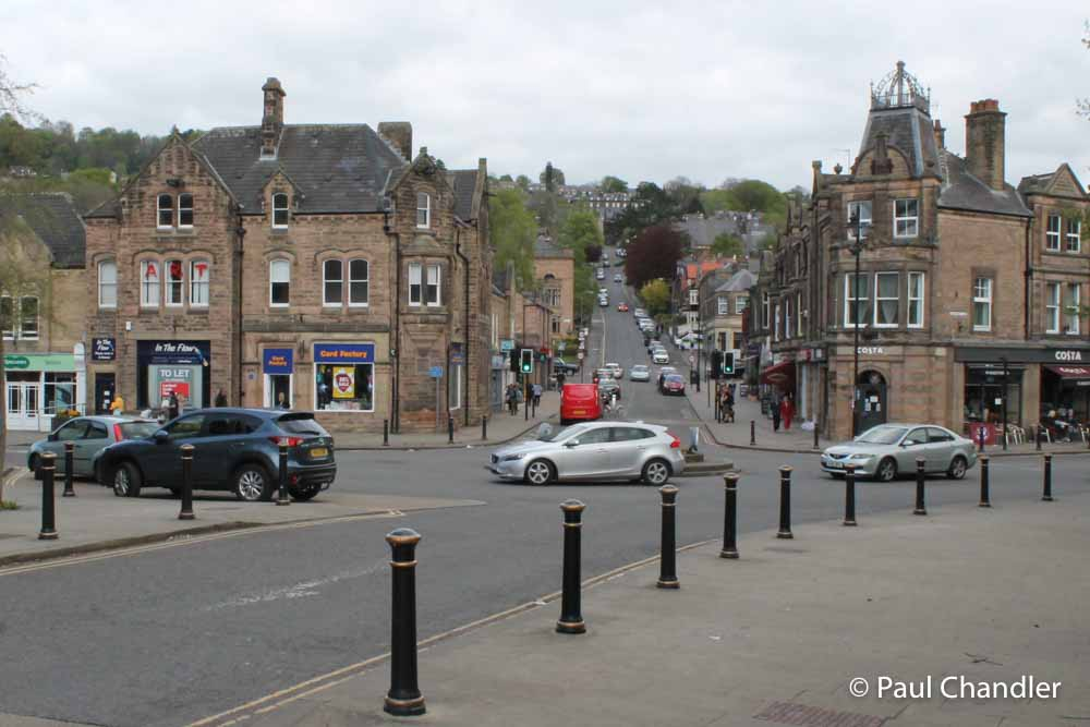 Crown Square, Matlock, where the lower terminal of the cable tramway was sited.